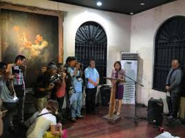 Secretary Wanda Tulfo-Teo addressing the crowd.